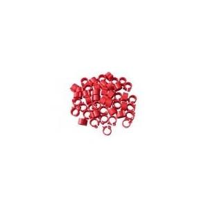 Cleme rosii 8x8mm (50 buc)