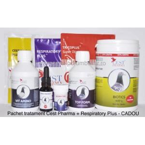 Pachet tratament Cest Pharma + Respiratory Plus - CADOU