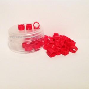 Cleme rosii 8x8mm(50buc)