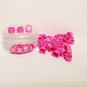 Cleme roz 8x8mm(50buc)