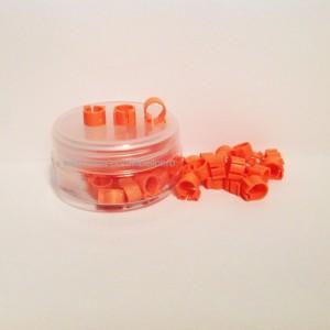 Cleme portocalii 8x8mm(50buc)